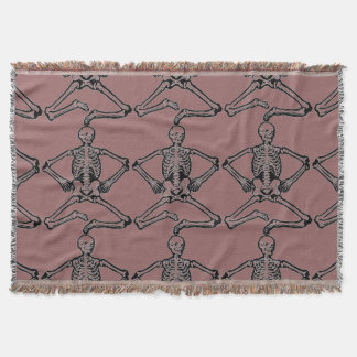 THROW BLANKETS- ADD YOUR OWN DESING  SKELETON