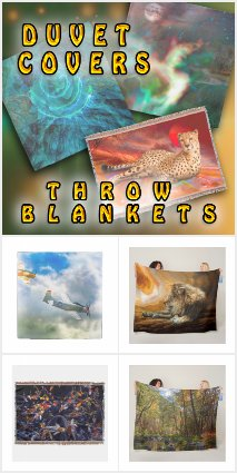 THROW BLANKETS & DUVET BED COVERS