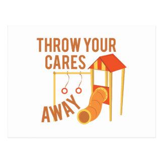 Throw Cares Away Postcard