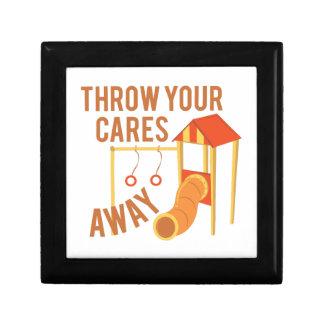 Throw Cares Away Trinket Boxes