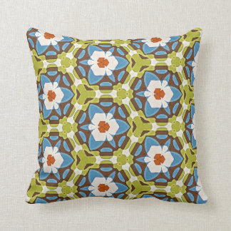 Throw Cushion - Bright Multicolor Repeat Pattern Pillow