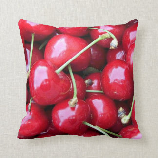 Throw Cushion with Cherries Pillow