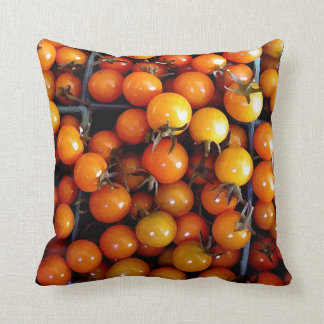 Throw Cushion with Cherry Tomatoes Throw Pillow