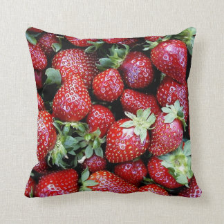 Throw Cushion with Fresh Strawberries Pillows