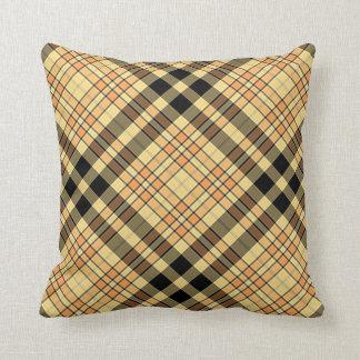 Throw Cushion with Plaid Design Pillows