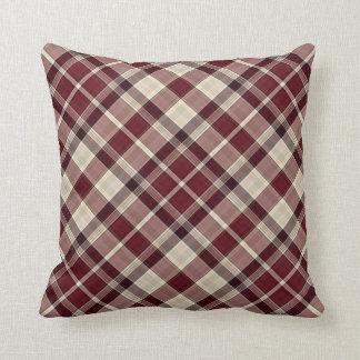 Throw Cushion with Plaid Design Throw Pillow