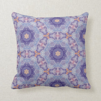 Throw Cushion with Purple Repeat Pattern Pillow