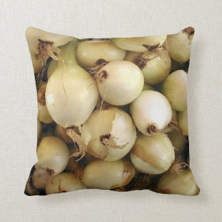 Throw Cushion with Spring Onions Throw Pillow