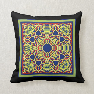 Throw Cushion with Stitched Tile Design Pillow