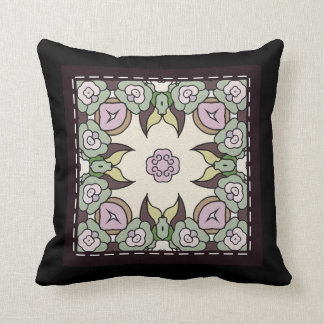 Throw Cushion with Stitched Tile Design Pillows