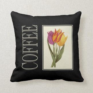 Throw Cushion with Vintage Coffe Print Pillows