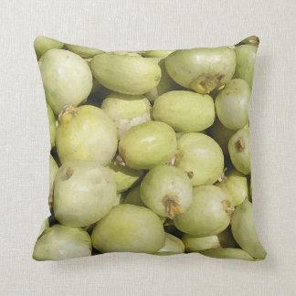 Throw Cushion with White Onions Pillows