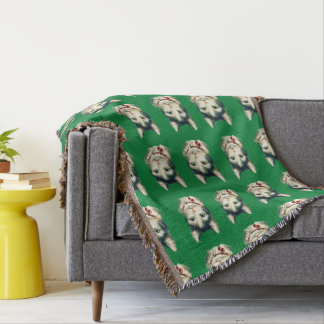 THROW FOR CAT LOVERS-HOLIDAY VINTAGE CATS!