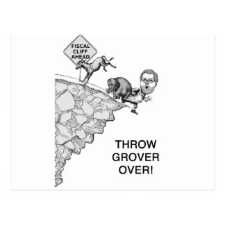 Throw Grover Over Postcard
