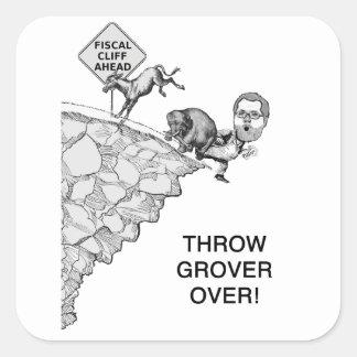 Throw Grover Over Square Sticker