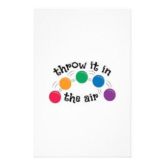 Throw It Stationery Design