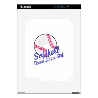 Throw Like a Girl Decal For The iPad 2