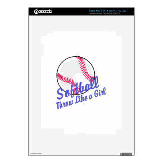 Throw Like a Girl Decals For iPad 3