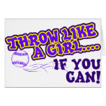 Throw Like A Girl if You Can Card