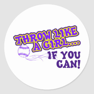 Throw Like A Girl if You Can Stickers