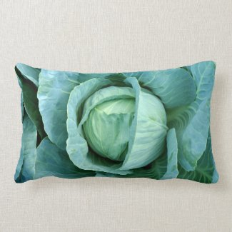 Throw lumbar pillow with cabbage image