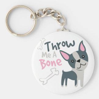 Throw Me A Bone Basic Round Button Keychain