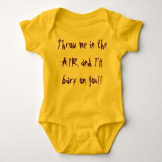 """""""Throw me in the air..."""" babies sleeper Baby Bodysuit"""