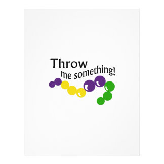 THROW ME SOMETHING LETTERHEAD TEMPLATE