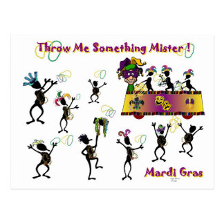 Throw me something Mister Post Card