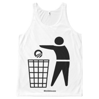 THROW O AWAY - Politiclothes Humor -.png All-Over Print Tank Top