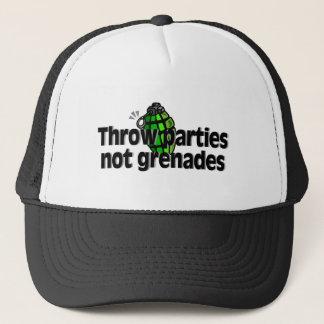 Throw Parties Not Grenades Trucker Hat
