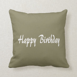 "Throw Pillow 16"" x 16""  happyBIRTHDAY birthday"