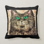 "Throw Pillow 16"" x 16"" Women and Cats- Mischief"