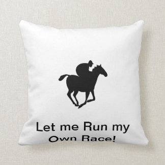 """Throw Pillow 20"""" x 20"""" with Race Horse"""