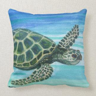 Throw Pillow 20x20 Reversible Kihei Maui /Turtle