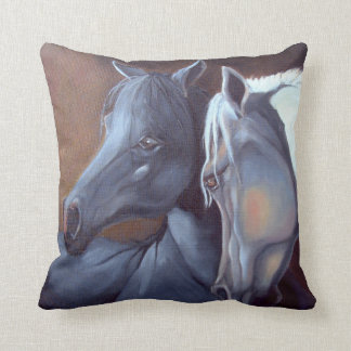 Throw Pillow - Arabian Horses