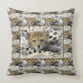 Throw Pillow/Baby Cheetah Throw Pillow