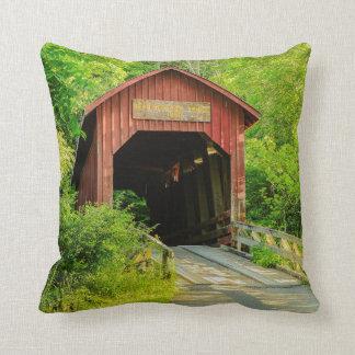 Throw Pillow - Bean Blossom Covered Bridge