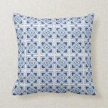 Throw Pillow - Blue motifs mosaic