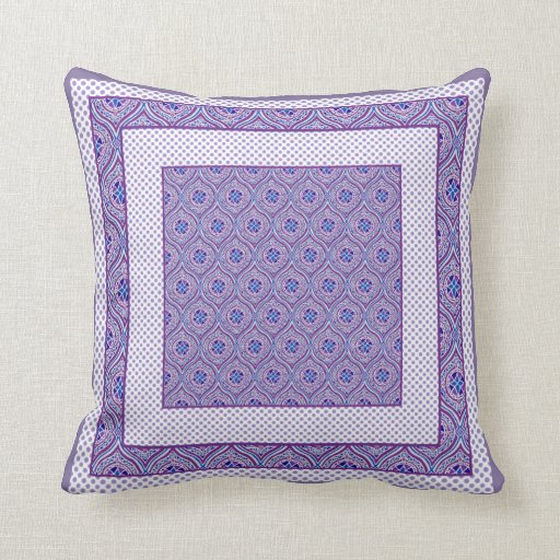 Blue And Lavender Throw Pillows : Throw Pillow, Cushion, Purple and Blue Ogees Zazzle