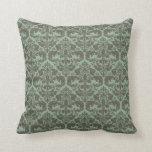 Throw Pillow - Damask Pattern (Sage)