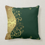 dark green flower american mojo pillows zazzle. Black Bedroom Furniture Sets. Home Design Ideas
