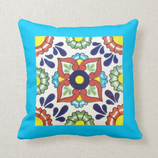 Throw pillow - double sided talavera tile design