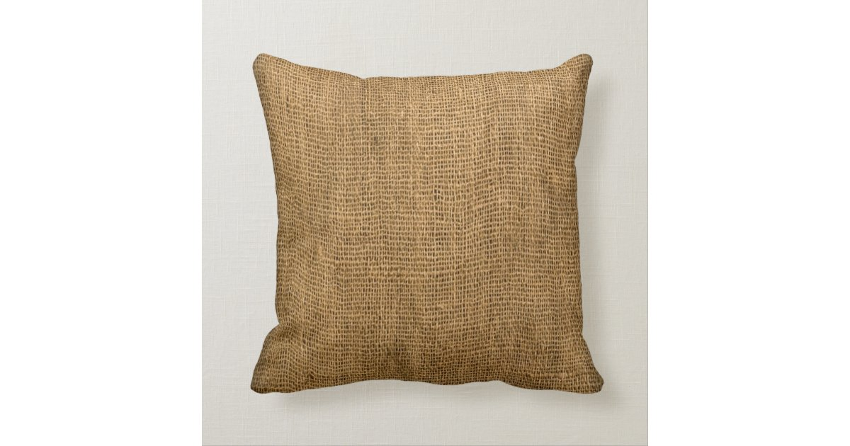 How To Make A Burlap Throw Pillow : Throw Pillow Faux Burlap with Rooster Image Zazzle