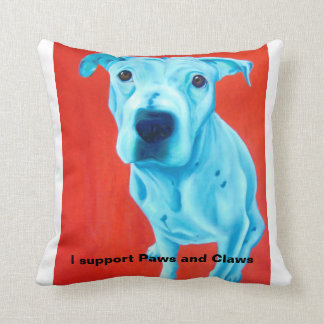 Throw pillow featuring pet art by Gail McFarland