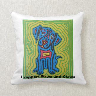 Throw pillow featuring pet art by Jeff Danford