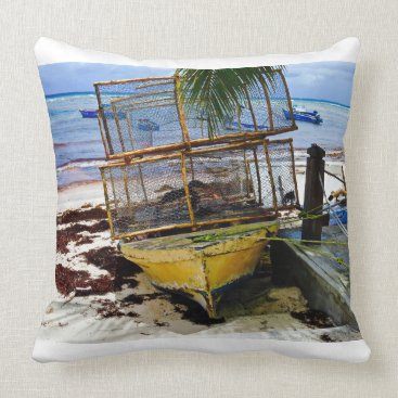 Beach Themed Throw Pillow - Fish Pods - Caribbean