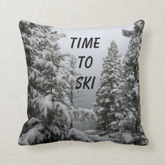 Throw Pillow for Skiers
