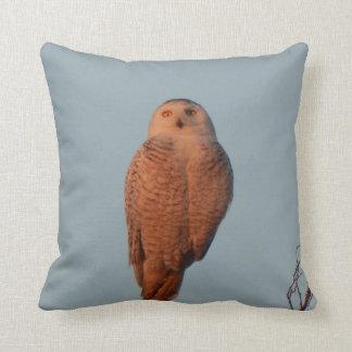 Throw Pillow Funny Snowy Owl