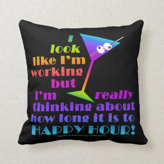 THROW PILLOW - How Long to Happy Hour